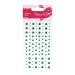 Adhesive Gemstones Green (104 Pieces)