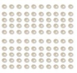 Adhesive Pearls White (104 Pieces)