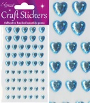Adhesive Gemstones Mix Heart Blue