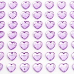 Adhesive Gemstones Mix Heart Lilac