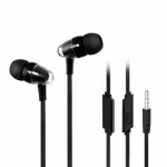 Bass Power Earphones with Mic Black