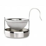 Grunwerg Stainless Steel Tea Strainer With Stand, Carded (3802/C)