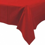 Caroline Plastic Table Cover 54 x 108 APPLE RED ( 1340 )
