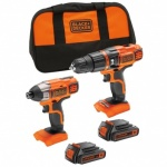 Black & Decker 18V Hammer Pl Impact Driver in Softbag