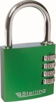 40mm Aluminium Combination Padlock - 3 Dial Coloured