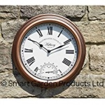 Astbury Wall Clock & Thermometre 12''