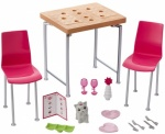 Barbie Furniture & Accessories - table & Chair