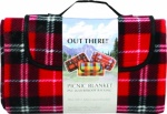 Waterproof Fleece Picnic Blanket ''Out There'' 1.5 x 1.3m