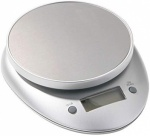 Bygone 3KG Oval/Rnd Silver Electronic Kitchen Scales