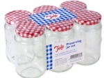 Tala Jar Gingham + Screw Lid 454G/16oz Pack 6