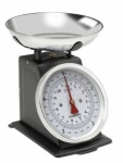 Terrallion  Traditional Metal Upright Scale with Stainless Steel Bowl, 5KG, Black
