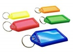 ASSORTED KEY TAGS COLOURED LARGE