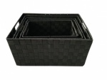 Monaco Set 5 Storage Basket Black