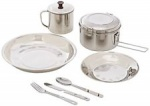 Steel Camping Set - Silver