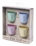 Egg Cup Pail Pastel Shades