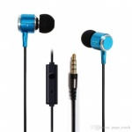 Bass Power Earphones with Mic Blue