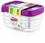 HOBBY 3 PC TREND RECT FOOD SAVER 0.6 LT