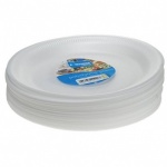 Kingfisher 8 Pack 10 inch White Polystyrene Disposable P [KC10PP]