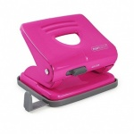 Rapesco 825 (2 Hole) Metal Punch - Hot Pink