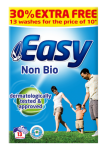 SUPPLIER DISCONTINUED Easy Non Bio Washing Powder 30% extra free - 1014g
