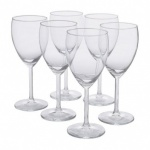 Clear wine glasses pack of 6