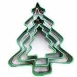 CHRISTMAS TREE CUTTERS WITH GREEN TOP (3PCS)