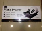 'COLOURS' PLATE DRAINER - BLACK