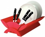'COLOURS' PLATE DRAINER - RED