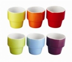 'COLOURS' 6pc EGG CUP SET