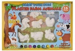15 PCs Farm Animal Plaster Painting Set In Window Box