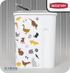 **** Curver Dry Pet Food Container - 1.5kg - Multi Pet White