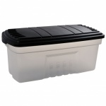 Curver 189L Trunk - Clear with Black Lid Clear/ Black Lid