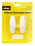 Rolson 2Pcs Removable Adhesive Hook 61323