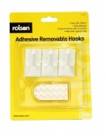 Rolson 3Pcs Removable Adhesive Hooks 61327