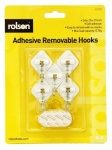 Rolson 5Pcs Mini Removable Adhesive Metal Hooks 61331