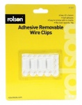 Rolson 4Pcs Removable Adhesive Wire Clips 61345
