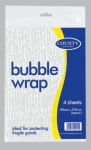 4 Sheets 190mm x 279mm Bubble Wrap Sheets