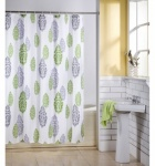 ColourBox  Shower Curtain Jacquard Leaf