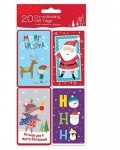 20 SELF ADHESIVE GIFT TAGS -NOVELTY KIDS (25/TCNV)