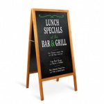 Chalkboard Sign W/stand 3pc