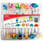 Pencils W/novelty Erasers 12pc