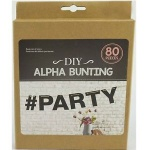 Alpha Bunting Diy 80pcs