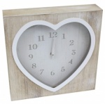 25X25 LIME WASH HEART CLOCK