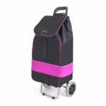 Metaltex Lily Shopping Trolley - Black/Fuxia - 53 L
