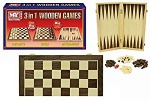 15''/38cm 3in1 Wooden Chess/Draughts/Backgammon ''M.Y''