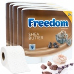 Freedom 45 Rolls Of Shea Butter Toilet Paper 3PLY  9PK X 5