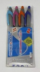 Paper Mate Flexgrip Elite RT Retractable Ball Pen Large Tip 1.4mm - Assorted Fun Colours - Wallet of 4