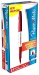 Paper Mate Flair Fine Fibre Tip Pen 0.8mm - Red - Box of 12
