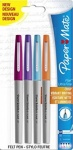 Paper Mate Flair Ultra Fine Fibre Tip Pen 0.5mm - Assorted Fun Colours - Pack of 4