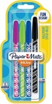 Paper Mate InkJoy 100 CAP Wrap Ballpoint Pens, Medium Point - Assorted Colours - Pack of 4
